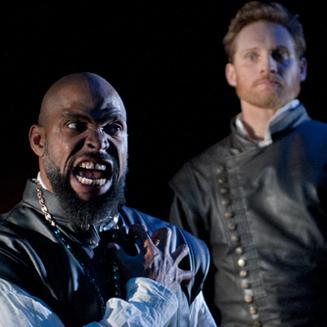 Aldo Billingslea (Othello) and Craig Marker (Iago)